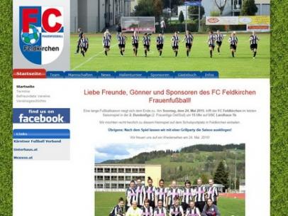 Website des Frauenfussballvereins FeldkirchenDesign: Max Sielaff