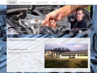 Responsive Homepage für KFZ-Mechaniker Patrik Widmann in Feldkirchen. Neben dem KFZ-Service aller Marken, ist KFZ-Widmann auch für den PKW An- und Verkauf Ihr Ansprechpartner.Design: Max Sielaff
