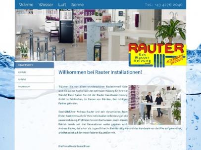 Homepage für Rauter InstallationenIn diesem Traditionsbetrieb legt man großen Wert darauf, dass Ihre ganz persönlichen Wünsche in Bezug auf Heizung und Installationen richtig verstanden und passend umgesetzt werden.Webdesign: Max Sielaff