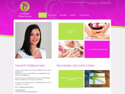Responsives Design für die Fußpflegerin und Kosmetikerin Martina in Velden.Wenn Sie Ihre Füße verwöhnen lassen wollen, sind Sie bei Fußpflege Martina an der richtigen Adresse!Design: Max Sielaff