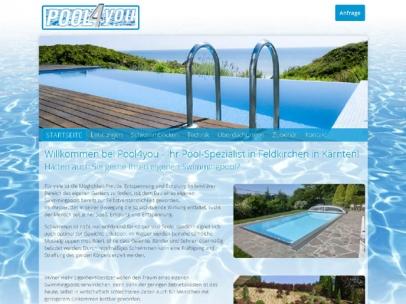 Responsive Homepage der Firma Pool4you - Ihrem Pool-Spezialisten!Design: Max SielaffDie Homepage pool4you.net wurde von SIEMAX für Google optimiert und ist mit Suchbegriffen wie: Pool Kärnten, Swimmingpool Kärnten bei Google auf der 1. Seite zu finden.Google Search