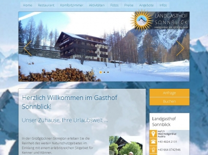 Gasthof, Appartements Sonnblick in Heiligenblut