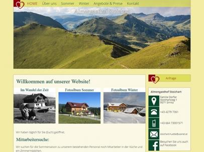 Almengasthof Stoichart auf der Hochrindl