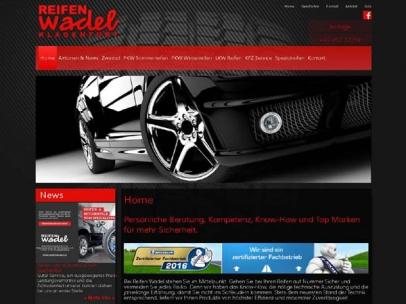 Responsive Homepage für den Reifenhändler Reifen Wadel in Klagenfurt. Bei Reifen Wadel stehen Sie im Mittelpunkt. Gehen Sie bei Ihren Reifen auf Nummer Sicher und vermeiden Sie jedes Risiko. Denn wir haben das Know-How, die nötige technische Ausrüstung und die jahrelange Erfahrung, damit Sie nicht ins Schleudern kommen. Stets dem neuesten Stand der Technik entsprechend, liefern wir Ihnen Produkte von höchster Effizienz und maximaler Zuverlässigkeit.Design: M. Sielaff & M. Glawischnig
