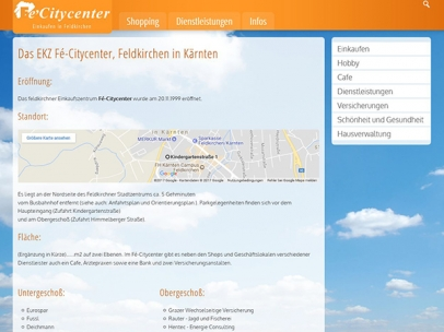 Das fe-citycenter, Einkaufszentrum in Feldkirchen/Kärnten
